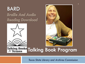 Reading resources for students/patrons with disabilities ppt.